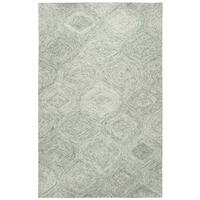Rizzy Home Hand-Tufted Brindleton Green Wool Rug (5' x 8')