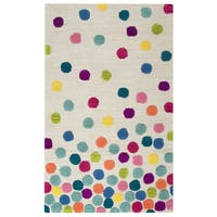 Rizzy Home Play Day Multi-color Polk-Dot Ivory Hand-tufted Rug (5' x 7') - 5' x 7'