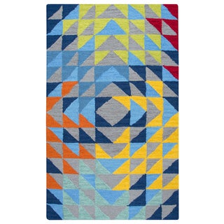 Rizzy Home Play Day Grey Hand-tufted Rug (5'x7')