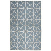 Madison Ivory Wool/Viscose Hand-tufted Rug (5' x 8') - 5' x 8'