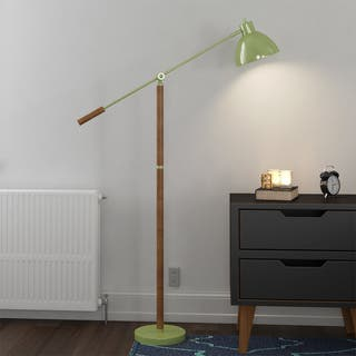 Pharmacy Floor Lamp with Adjustable Arm and Shade|https://ak1.ostkcdn.com/images/products/13814435/P20462303.jpg?impolicy=medium