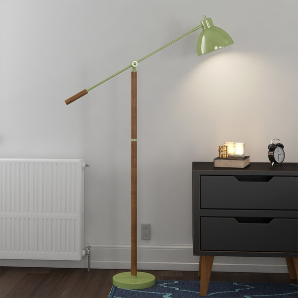 Pharmacy floor lamp with adjustable arm and shade free shipping pharmacy floor lamp with adjustable arm and shade aloadofball Choice Image