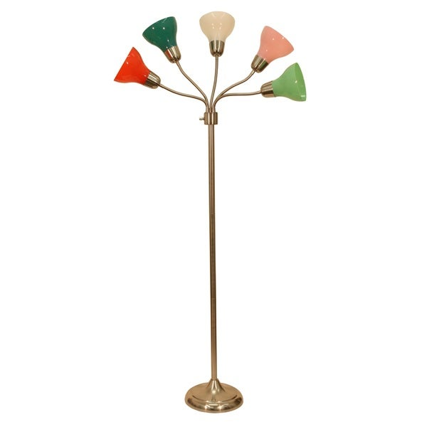 Decor Therapy Multicolored 5 Light Floor Lamp