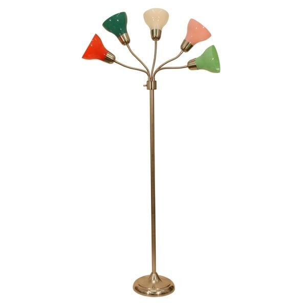 Decor Therapy Multicolored 5-light Floor Lamp