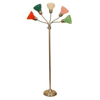 Decor Therapy Multicolored 5-light Floor Lamp