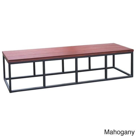 Cal Flame Burgundy/Black Metal/Plastic Spa Bench