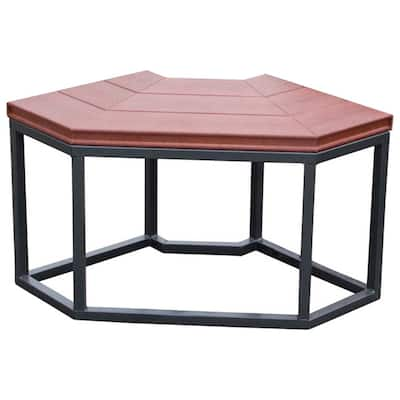 Smoke Synthetic Material Corner Spa Bench