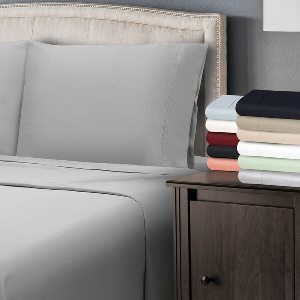 Superior 300 Thread Count Antimicrobial Cotton Pillowcases (Set of 2)