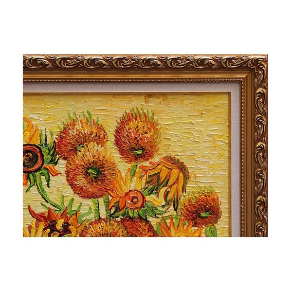 Fourteen Sunflowers In A Vase Framed Wall Art Free Shipping Today