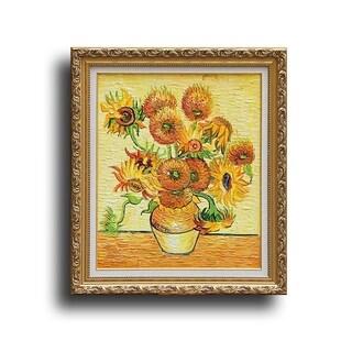 'Fourteen Sunflowers in a Vase' Framed Wall Art