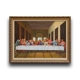 Leonardo da Vinci 'The Last Supper' Wood Framed Art
