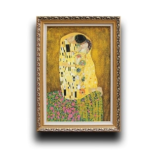 Gustav Klimt 'The Kiss' Wood Framed Wall Art