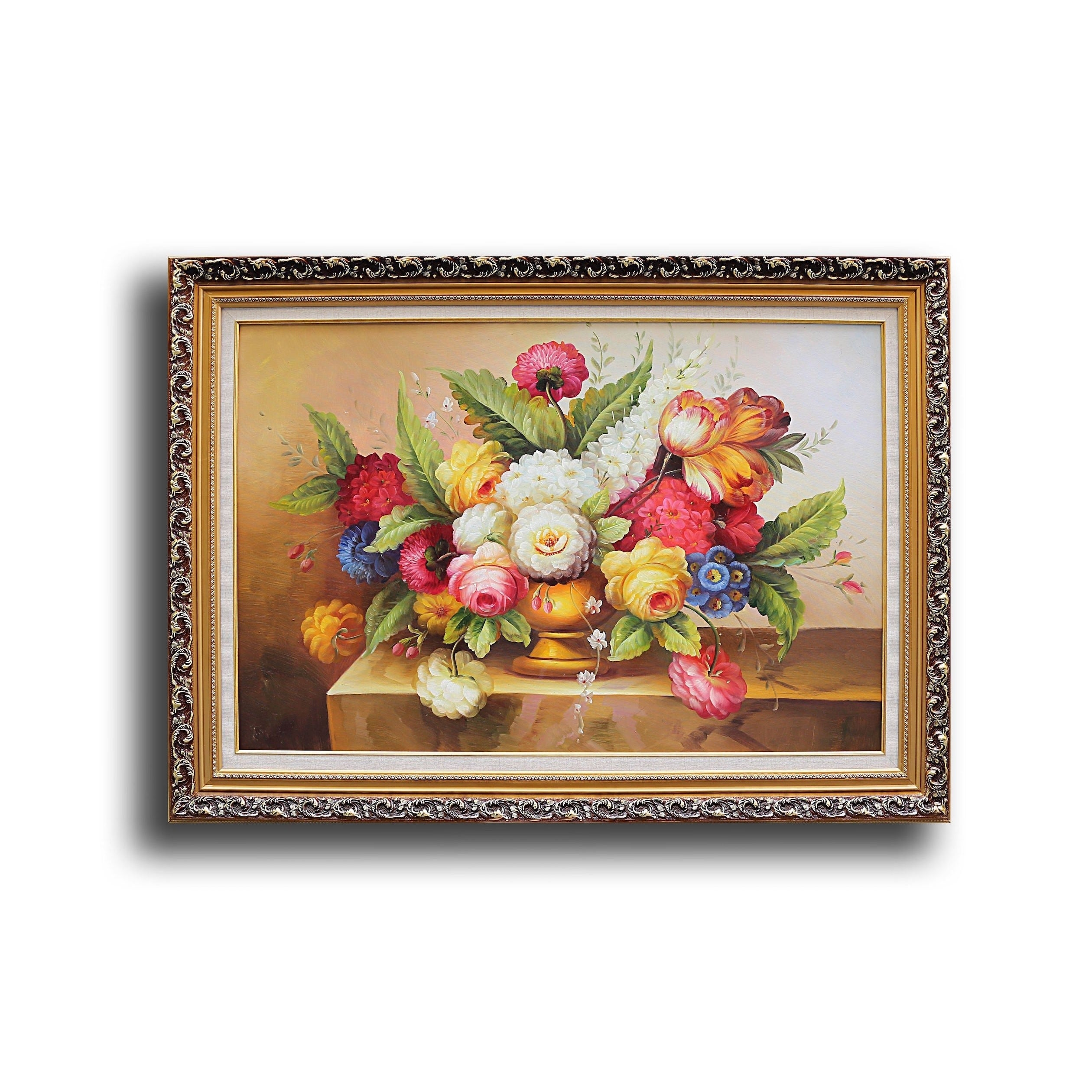 First Lighting Vase with Flowers (Overall weight: 17lb Ne...