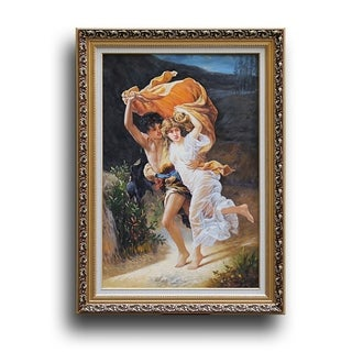 Pierre-Auguste Cot 'The Storm' Wood Framed Wall Art