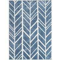 Jani Adi Blue Rayon from Bamboo Viscose Rug
