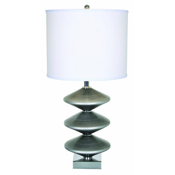 Oceanna Silver Finish Metal Table Lamp