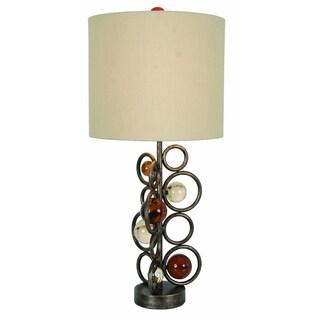 More Wheels Single Light Table Lamp