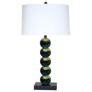Lambastica Green/ White Metal Contemporary Lamp