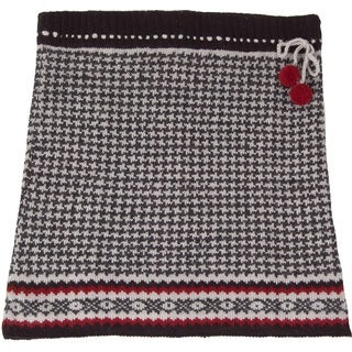 Laundromat Women's Pearl Black Houndstooth Wool Knit Skirt