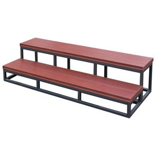 Cal Flame Red Plastic and Metal 2-tier Spa Step