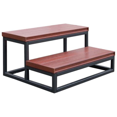 2-Tier Mahogany 14-inch Spa Step