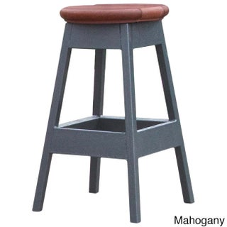 Cal Flame Mahogany 14-inch x 14-inch x 24-inch Bar Stool (Option: Red)