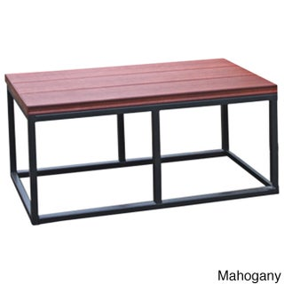 Cal Metro Smoke Metal and Plastic 16.5-inch x 36-inch x 18-inch Spa Bench (Option: Red)