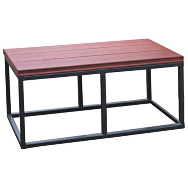 Cal Metro Smoke Metal and Plastic 16.5-inch x 36-inch x 18-inch Spa Bench