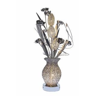 Urban Designs Floral Metal Art Display LED Table Lamp