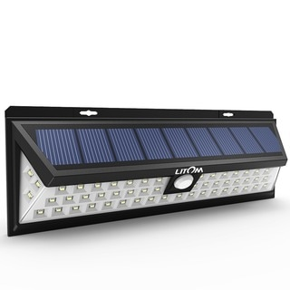 Super Bright Solar Lights 54 LED Solar Power Outdoor Motion Sensor Light With LED on Both Side