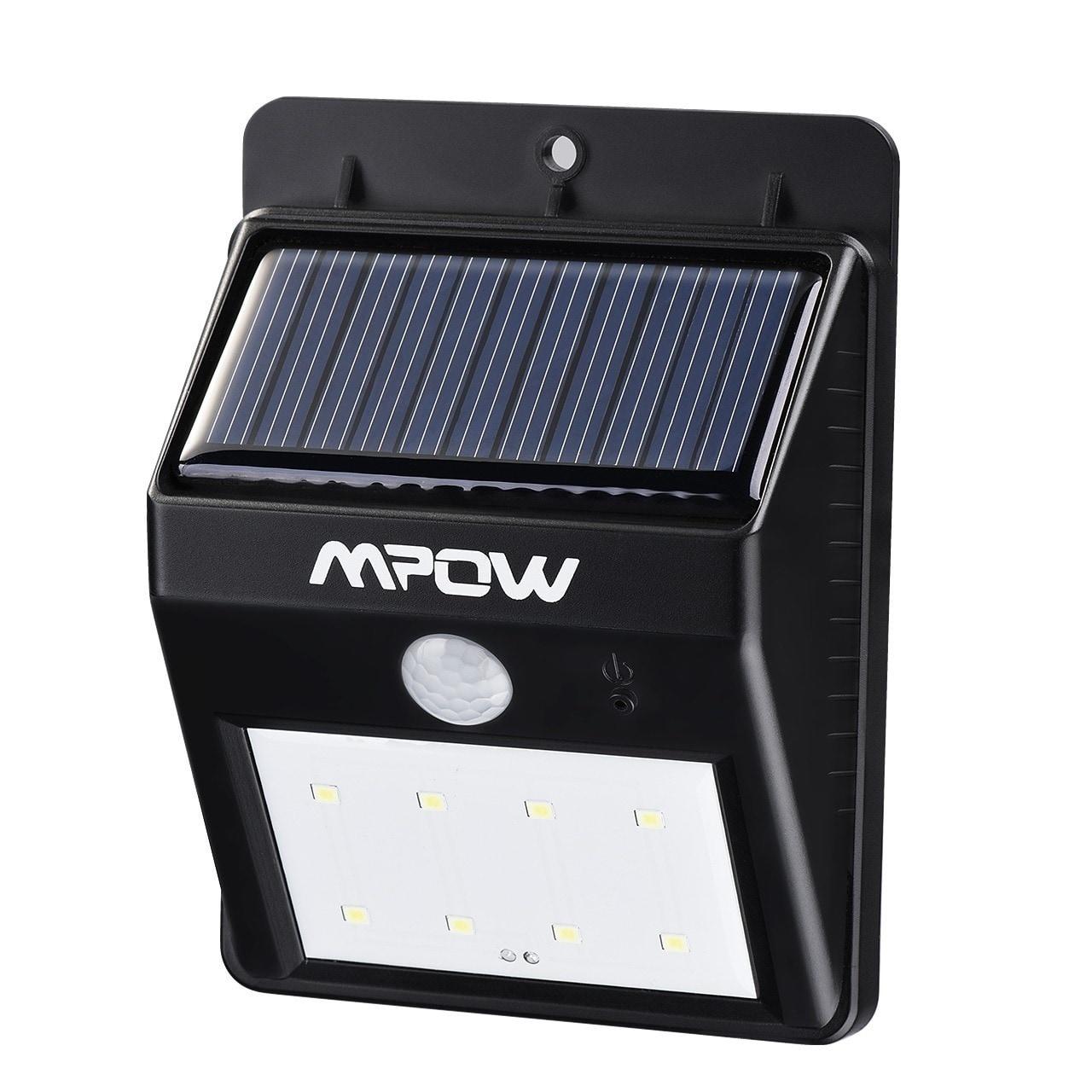 Mpow 8 LED Light Source Solar Powerd Wireless Security Mo...
