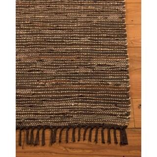 Natural Area Rugs Hand Woven Vera Cruz Contemporary Rug, (5' x 8') with Bonus Rug Pad