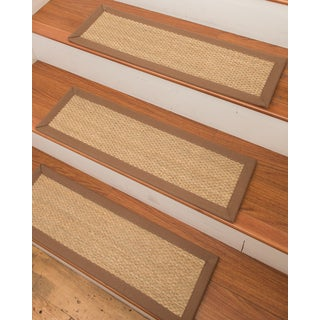 "Handcrafted Positano Seagrass Carpet Stair Treads - Malt 9"" x 29"" (Set of 13)"