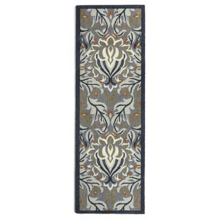 Muddle Mat Floral Nylon Washable Runner Rug (1'8 x 4'11)