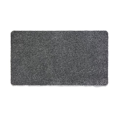 "Muddle Mat Solid Color Cotton Absorbent Washable Runner Rug (1'8 x 4'11) - 1'8"" x 4'11"""