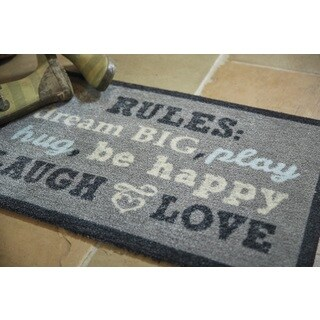 Muddle Mat 'Family Rules' Nylon Accent Rug (1'8 x 2'6)