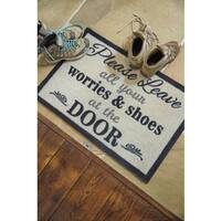 Muddle Mat Nylon Durable No-worries Washable Accent Rug (1'8 x 2'6)