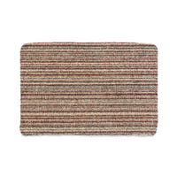 "Muddle Mat Cotton Candy-stripe Cotton Microfiber Absorbent Washable Accent Rug (1'8 x 2'6) - 1'8"" x 2'6"""