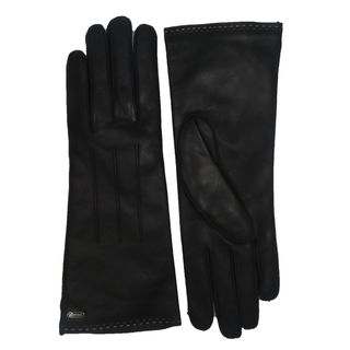Coach Women's Black Leather Logo Gloves