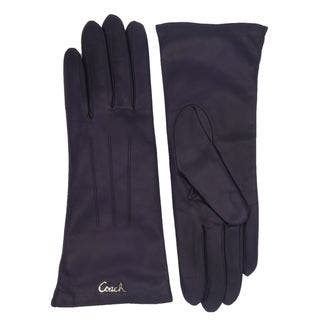 Coach Plum Leather Logo Gloves|https://ak1.ostkcdn.com/images/products/13814749/P20462474.jpg?impolicy=medium