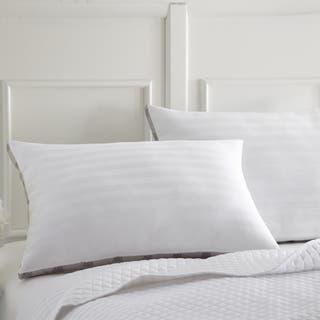 Amrapur Overseas Cotton Dobby Stripe Down Alternative Pillow (Set of 2)|https://ak1.ostkcdn.com/images/products/13814781/P20462473.jpg?impolicy=medium