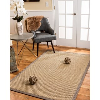 Natural Area Rugs Reyna Taupe Seagrass Rug (4' x 6') with Bonus Rug Pad