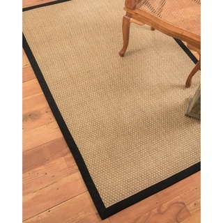 Natural Area Rugs Reyna Ebony Seagrass Rug (5' x 8') with Bonus Rug Pad