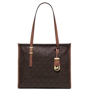 Michael Kors Darien Medium Brown/Peanut Logo Tote Bag