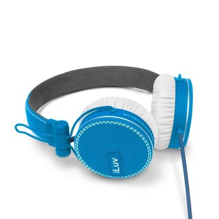 iLuv ROCKefeller Premium Over-Ear HP Smartphone Headphones - Sky Blue