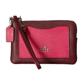 Coach Color Block Corner Zip Bag