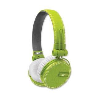 iLuv ROCKefeller Premium Over-Ear HP MFI Headphones - Green|https://ak1.ostkcdn.com/images/products/13814990/P20462720.jpg?impolicy=medium