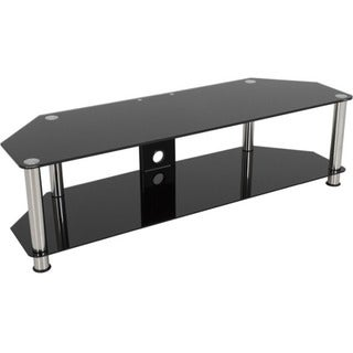 AVF SDC1400CM-A: Classic - Corner Glass TV Stand with Cable Mangement