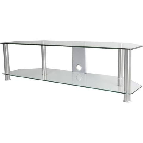 AVF SDC1400CMCC-A: Classic - Corner Glass TV Stand with Cable Mangement