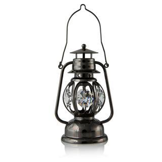 Matashi Grey Crystal-studded Lantern Ornament